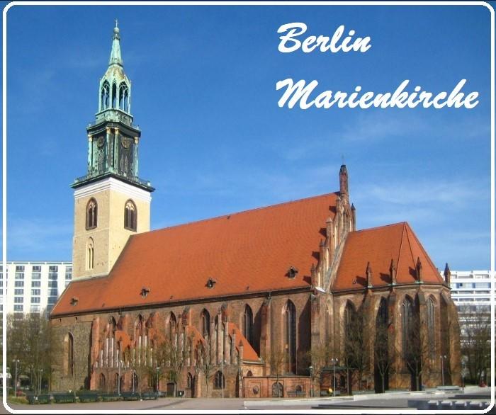 Berlin Marienkirche - Azize Meryem Klisesi - Berlin gezilecek Yerler