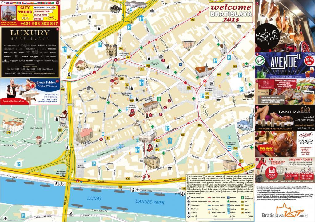 Bratislava Turist Haritası