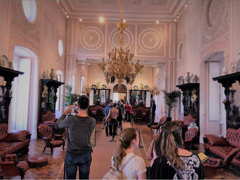 Parque e Palacio Nacional da Pena (Pena Sarayı) salon- Sintra- Lizbon Gezi Rehberi