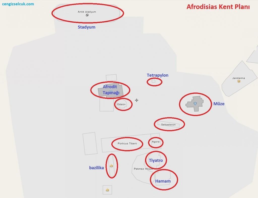Afrodisias Kent Planı