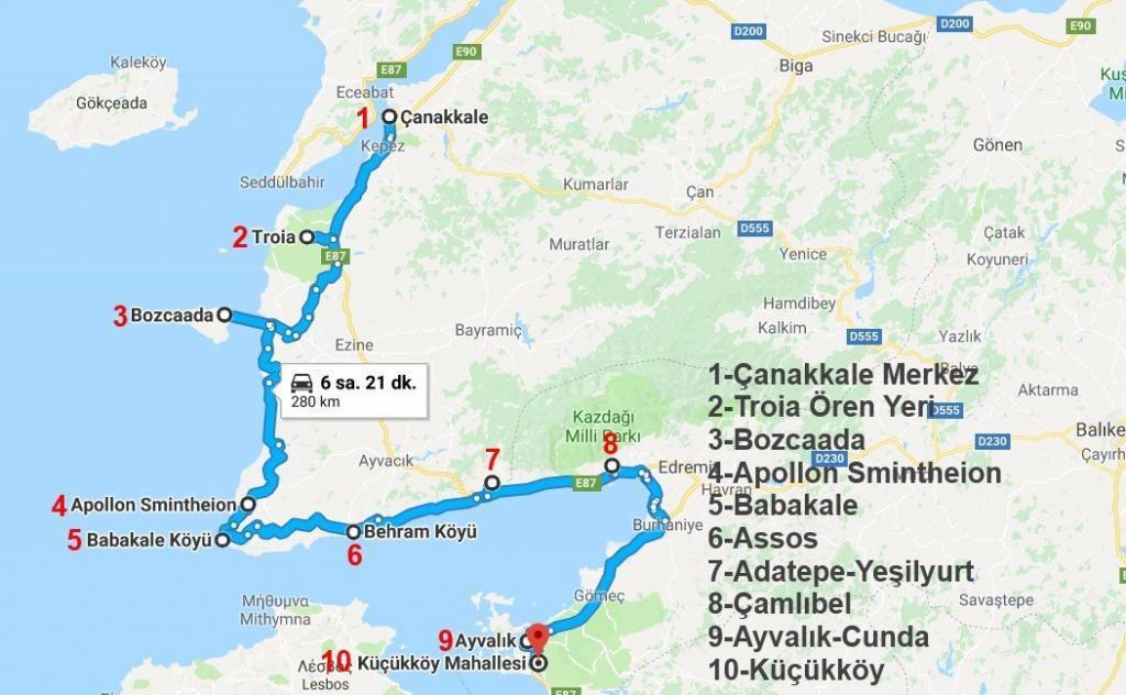 Çanakkale Gezi Rehberi - Çanakkale Planı