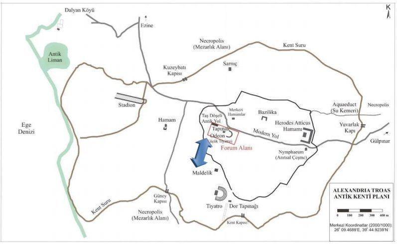Detaylı Alexandria Troas Kent Planı