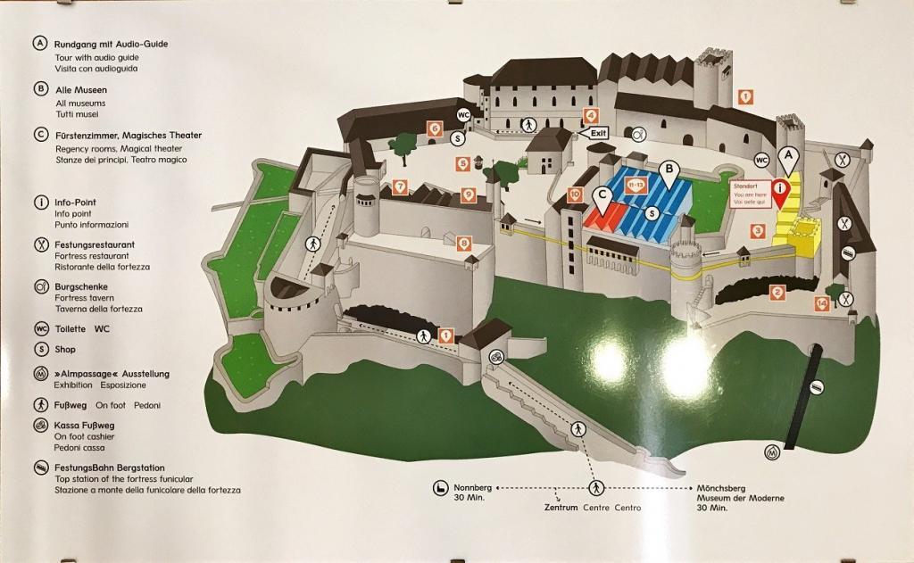 Hohensalzburg Kale Planı