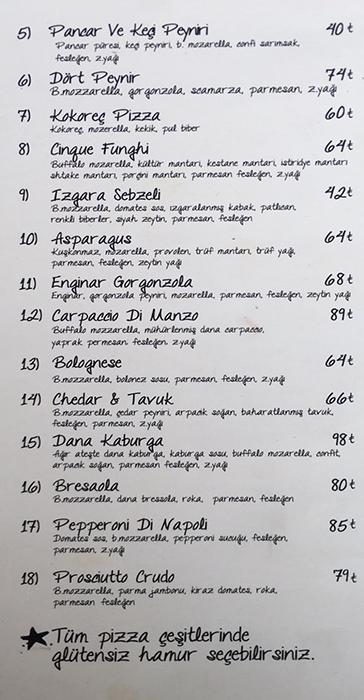 Pizza Emirgan fiyat