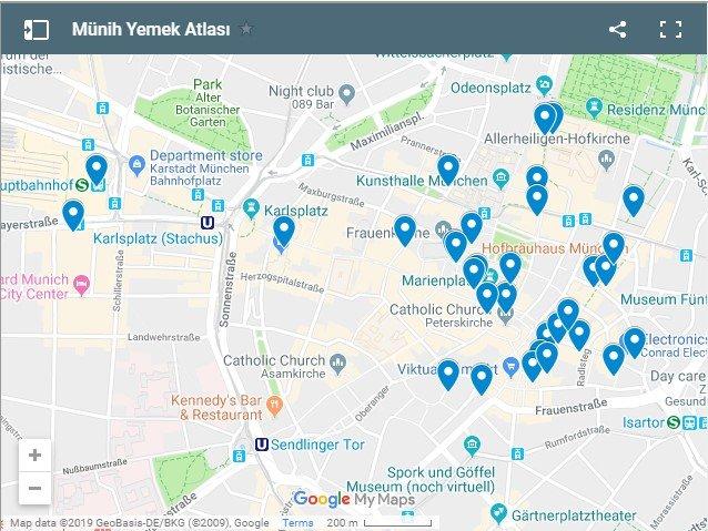 Munih Yemek Haritası - Münih Gezi Rehberi