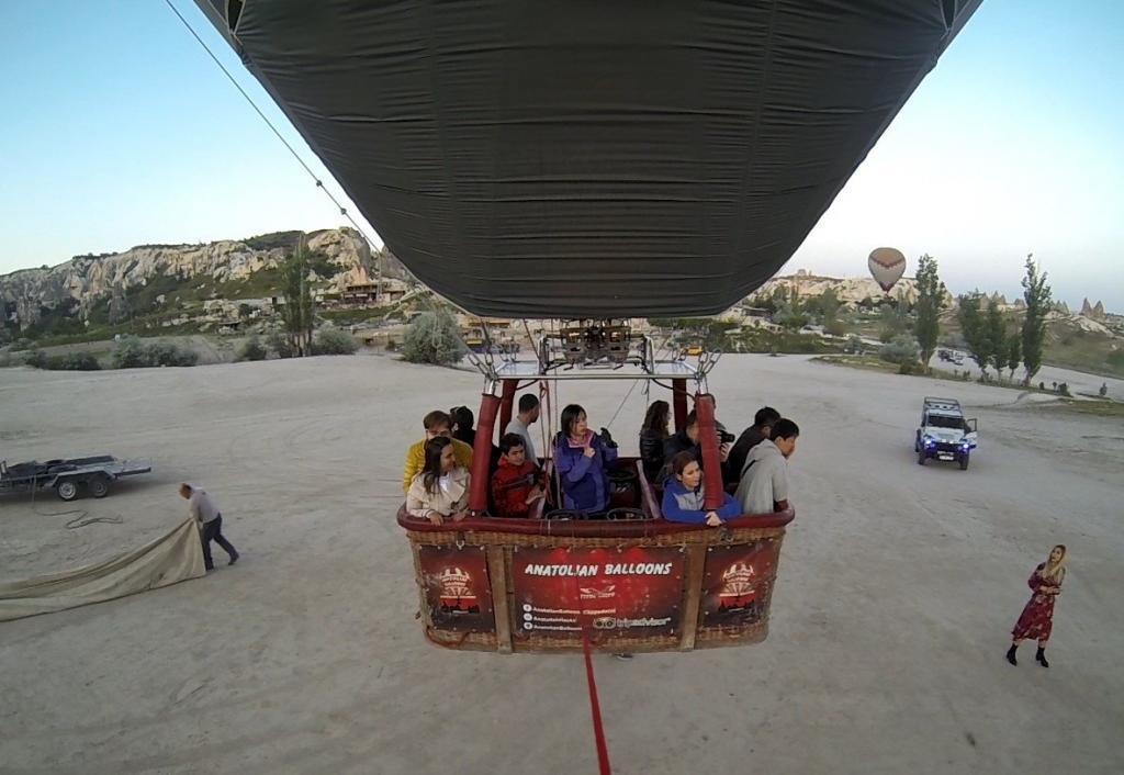 balon kamerası havalanıyor - kapadokya balon turu