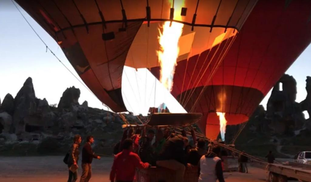 kapadokya balon turu - Balon uçuşa hazır